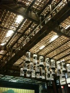 金丸座の葡萄棚天井