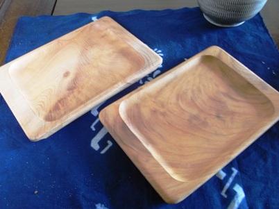 わたなべ木工の欅のパン皿